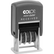 Colop Mini Date 'Received' Self-Inking Stamp With Blue & Red Ink