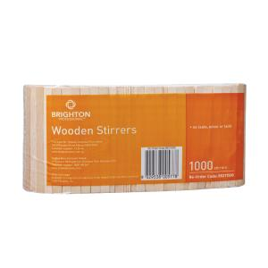 Brighton Professional Wooden Stirrers Natural Pack 1000