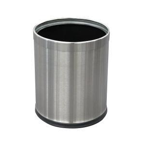 Compass Stainless Steel 10Lt Bin Liner 255Hx270D Rubber Rim