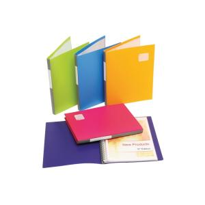 Marbig A4 Display Book Refillable 20 Pockets Assorted Pack 12