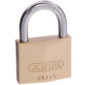 Abus Padlock 6545 Brass  2Keys