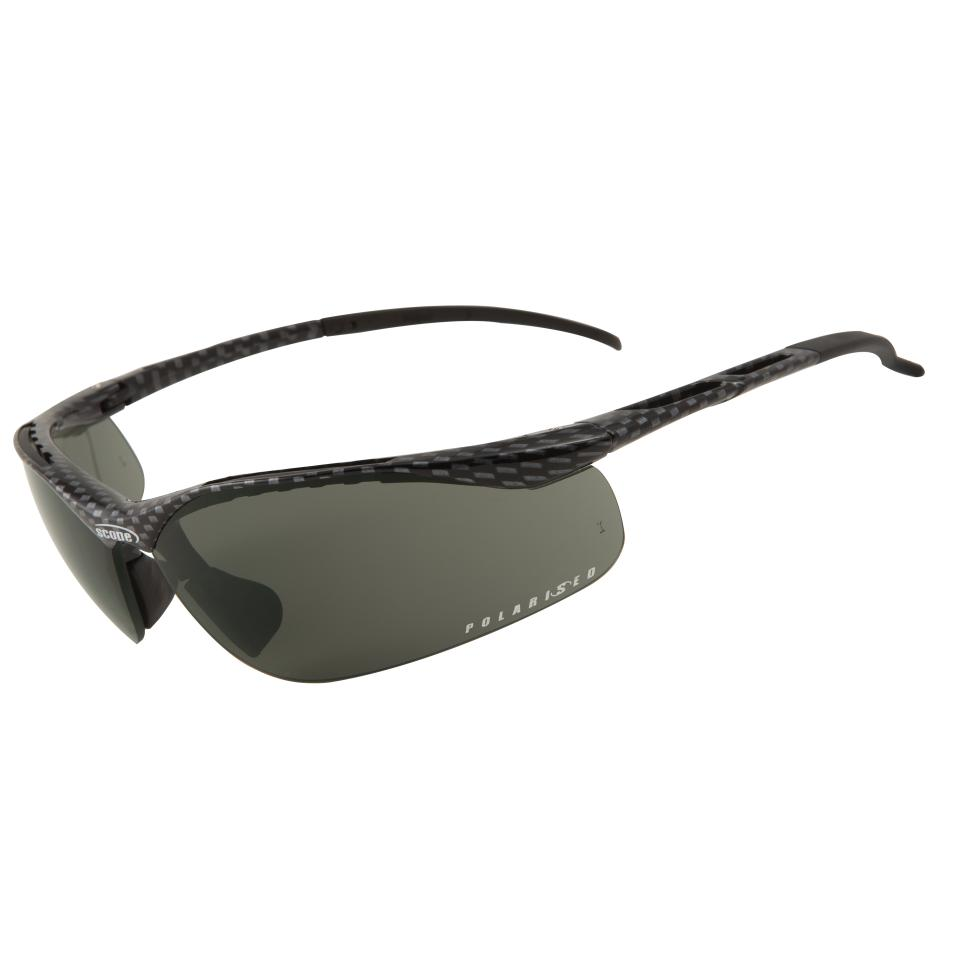 Scope Sniper Safety Specs Carbon Fibre Finish Frame Polarised Lens Each