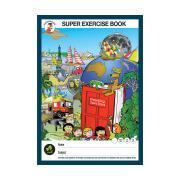 Clever Kangaroo Supersize Ex Book 340mmx240mm 80gsm 64pg 4mm Ruling Red & Blue Txt Lines Red Margin