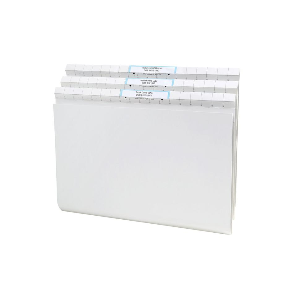 Avery Quickvue Lateral File 367 x 242mm 30mm Expansion Foolscap White Pack 50
