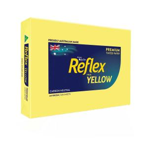 Reflex Colours Copy Paper A4 Yellow 500 Sheet