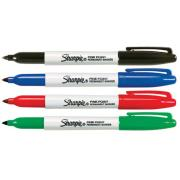 Sharpie Permanent Markers Fine Assorted Colours Pack 4