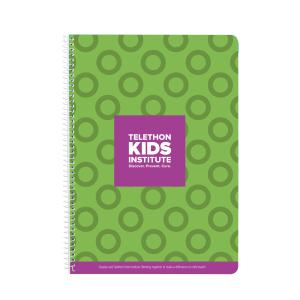 Telethon Kids Institute Spiral Notebook A4 120Page Green Cover