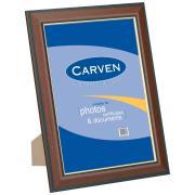 Carven A4 Certificate Elegant Timber Look Frame/Gold Trim