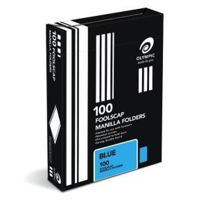 Olympic Manilla Folder Foolscap Blue Box 100