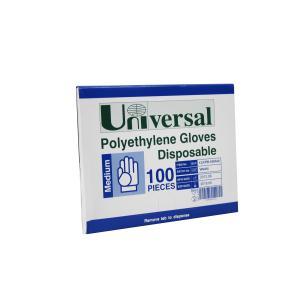Universal Polyethylene Gloves Medium Pack 100