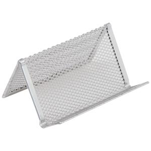 Staples Business Card Desk Holder Mesh Silver Staples