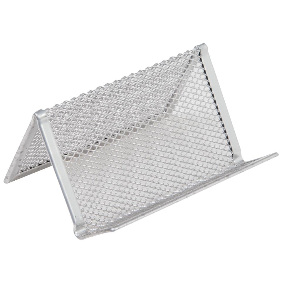 Staples Business Card Desk Holder Mesh Silver