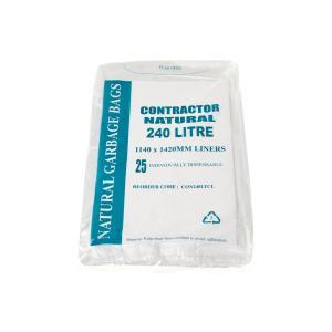 Austar Bin Liner Contractor 240 Litre Natural Carton 100
