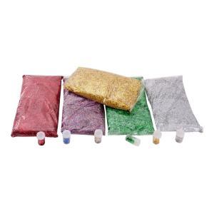 Jasart Bright Coloured Glitter 1kg Silver Bag