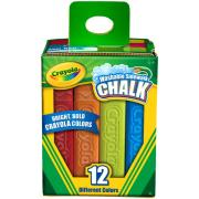 Crayola Washable Sidewalk Chalk Assorted Colours Pack Of 12