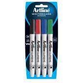 Artline Supreme Whiteboard Marker Fine 1.5 mm Assorted Colours Pack 4