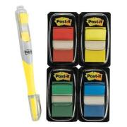 Post-It Flags 25mm Value Pack Bonus Highlighter Assorted Pack 4