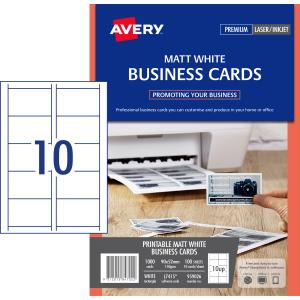 Avery matt finish business cards 90 x 52 mm 1000 cards 150 g avery matt finish business cards 90 x 52 mm 1000 cards 150 g reheart Images