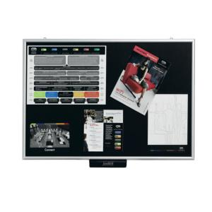 Justick Electro Adhesion Notice Board Lite 600X900mm Black
