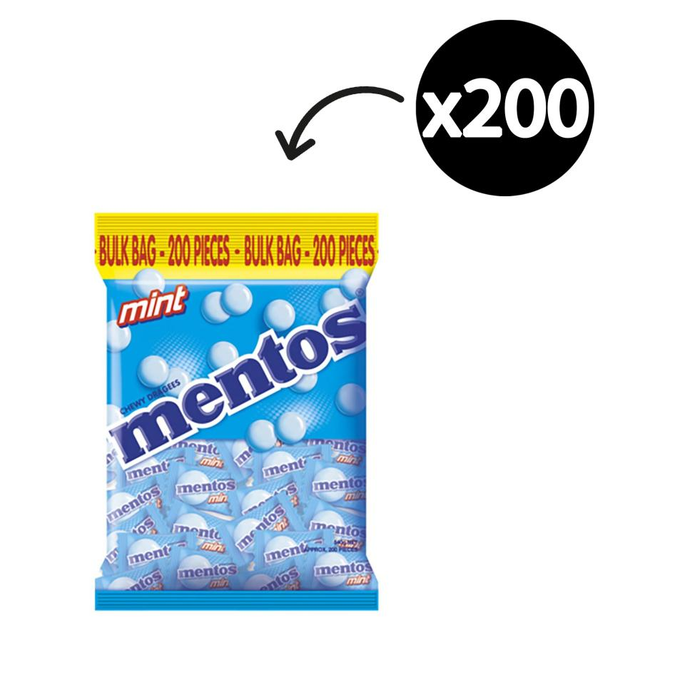 Mentos Mints Individually Wrapped 540g