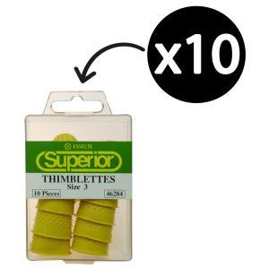 Esselte Superior Thimblettes Size 3 Yellow Box 10
