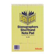 Spirax 566 Steno Notebook Centre Margin 125X200mm 100 Page