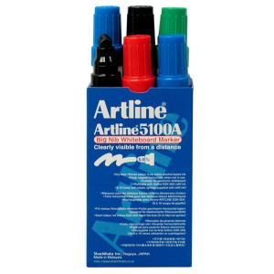 Artline 5100A Whiteboard Marker Big Nib 5mm Assorted Colours Pkt 6