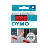 Dymo D1 Label Printer Tape 12mm x 7m Black On Red