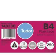 Tudor 140230 Envelopes Pocket Peel-N-Seal 353X250mm B4 White Box 250