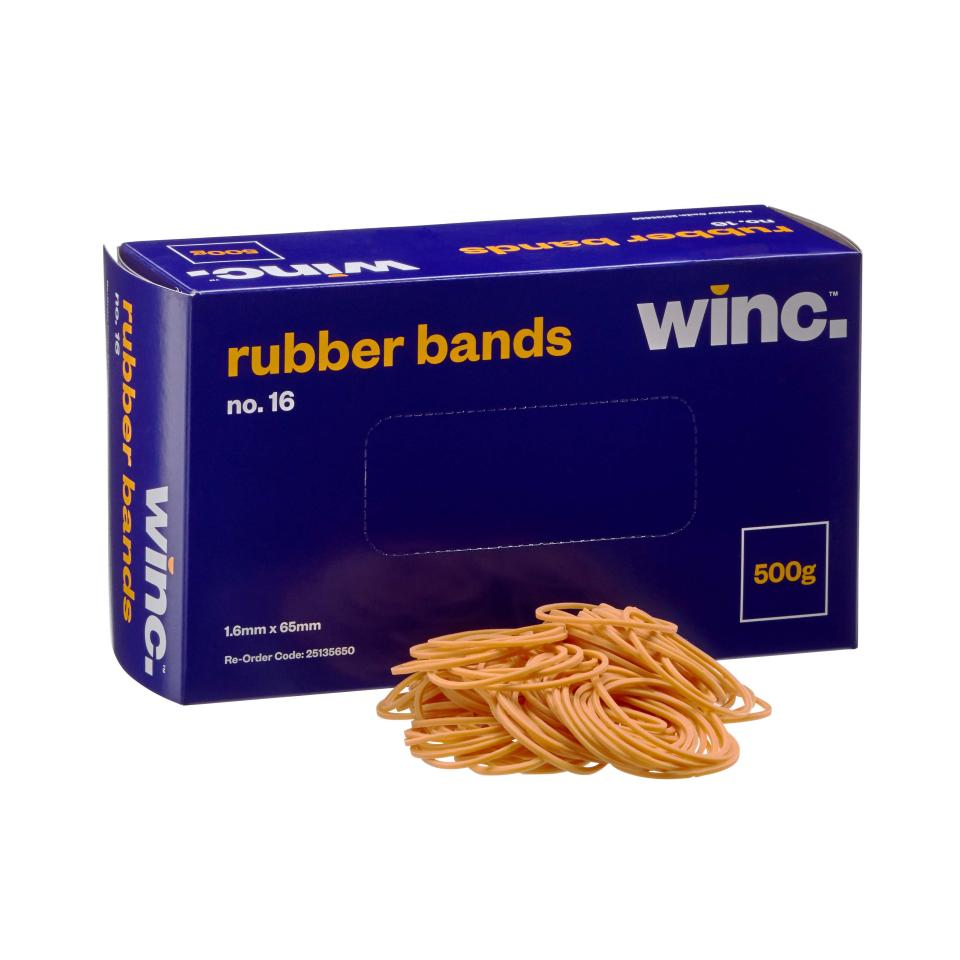 Winc Rubber Bands No. 16 500g
