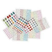 Colorific Adhesive Rhinestones 9 sheets Pack 850