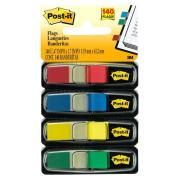 Post-It Flags 11.9 x 43.2mm Assorted Colours Red/Blue/Green/Yellow Pack of 4