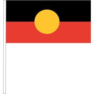 Aboriginal Handwaver Plastic Flag 260x130mm With Plastic Stick Pack 100