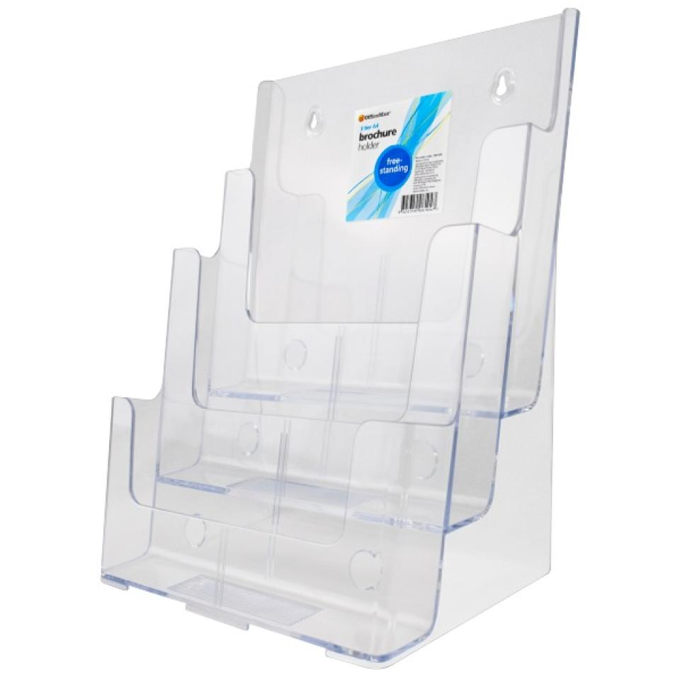 Officemax Freestanding Brochure Holder A4 3 Tier