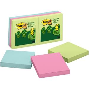 Post-It Greener Pop-Up Notes Helsinki Collection 76 x 76mm Pack 6