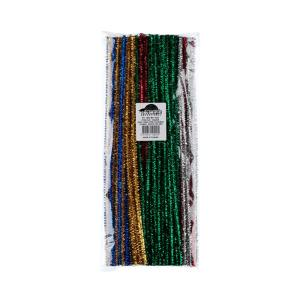 Pipecleaners 6mm Tinsel Assorted Bag of 150