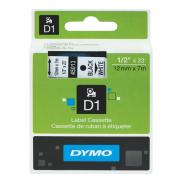 Dymo D1 Label Printer Tape 12mm x 7m Black on White
