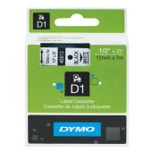 Dymo D1 Label Printer Tape 12mm x 7m Black on White