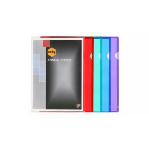 Marbig Ultra Letter File  A4 Plastic Assorted Pack 10