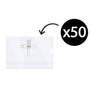 Corporate Express Convention Name Card Holder Pin And Clip Box 50