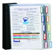 Arnos Flippa Wall Display System 10 Panels A4 Black