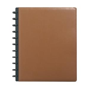 M By Staples ARC Leather Notebook A4 Brown