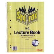 Spirax 598 Lecture Book A4 Side Opening With Pocket 140 Page