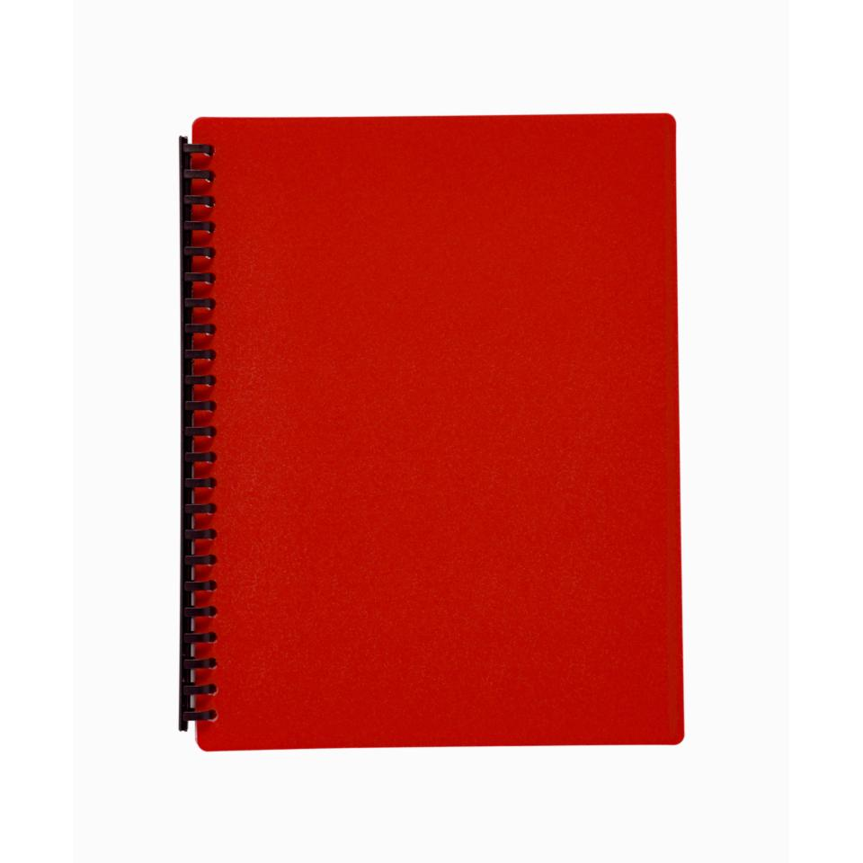 Winc Display Book Refillable A4 20 Pocket - Red