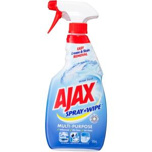 Ajax Spray N Wipe Ocean Fresh Antibacterial Trigger 500ml