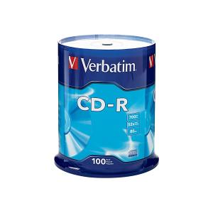 Verbatim CD-R 700 MB / 52x / 80 Min - 100-Pack Spindle