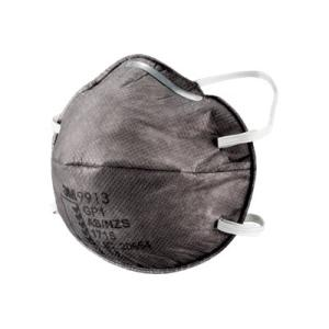 3M Cupped Particulate Respirator 9913 GP1 with Nuisance Level Organic Vapour Relief Box 15