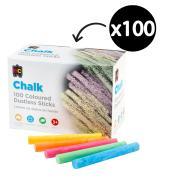 Educational Colours Dustless Chalk Colours Box 100
