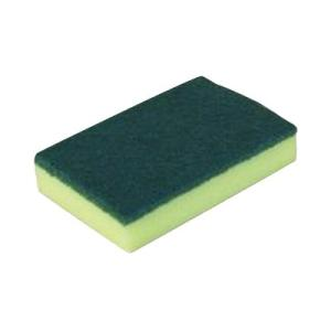 Scourer Sponge 150 X 100mm Green Pkt10