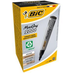 BIC Bullet Marker ECO 2000 Black Bx12